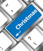 Christmas button on the keyboard key - holiday concept — Foto de Stock