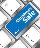 Christmas sale on computer keyboard key button — Stock Photo