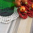 Wine and Pearls, christmas balls set — Foto Stock