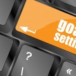 Goals setting button on keyboard with soft focus — Stock Photo