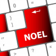 Stock Photo: Computer keyboard key with Noel button