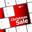 Christmas sale on computer keyboard key button — Lizenzfreies Foto