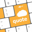 Keyboard key for quote - business concept — Stock Photo