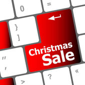 Christmas sale on computer keyboard key button — Foto de Stock