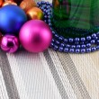 Wine and Pearls, christmas balls set — Stock Photo