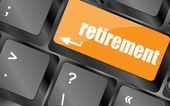 Retirement for investment concept with a button on computer keyboard — Stock Photo