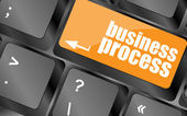 Tastaturtaste mit business-prozess-taste, businesskonzepte — Stockfoto