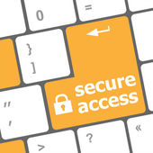 Secure access, close up view on conceptual keyboard, Security key — Foto de Stock