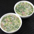 Russian cold vegetable soup on yogurt (sour-milk) base - okroshka — ストック写真