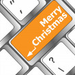 Merry christmas message, keyboard enter key button — Stock Photo #36921287