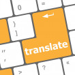 The word Translate on a computer keyboard key or button — Foto de Stock