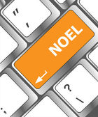 Computer keyboard key with Noel button — Stock Photo