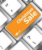 Vendita di Natale sul pulsante chiave computer tastiera — Foto Stock