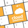 Cloud solution words concept on button of the keyboard — Stock Photo