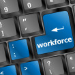 Foto Stock: Workforce key on keyboard - business concept