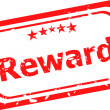 Reward red rubber stamp over a white background — Stock Photo #37022773
