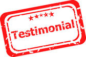 Testimonial quality on red rubber stamp over a white background — Stock Photo