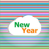 Dikişsiz soyut desen arka plan ile yeni yıl sözleri — Stok fotoğraf