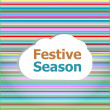 Invitation card, festive season word on abstract cloud — Foto Stock