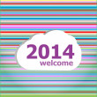 Seamless abstract pattern background with welcome 2014 words — Stock Photo