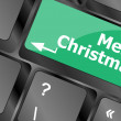 Merry christmas message, keyboard enter key button — Stock Photo #37136147