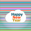 Seamless abstract pattern background with happy new year words — Stock Photo