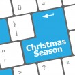 Computer keyboard key with christmas season words — Stock Photo