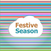 Invitation card, festive season word on abstract cloud — Stock Photo