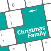 Christmas family message button, keyboard enter key — Stock Photo