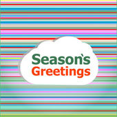 Seamless abstract pattern background with christmas greetings concept — Stock Photo