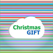 Christmas invitation card, christmas gift word on abstract cloud — Stock Photo