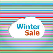 Seamless abstract pattern background with winter sale words — Foto Stock