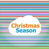 Christmas invitation card, christmas season word on abstract cloud — Stock Photo