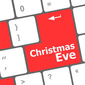 Christmas eve message button, keyboard enter key — Stock Photo