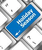 Holiday season button on modern internet computer keyboard key — Stock Photo