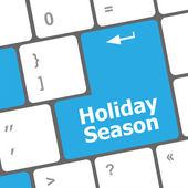 Urlaub saison schaltfläche auf moderne internet-computer-tastatur-schlüssel — Stockfoto