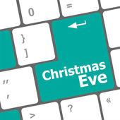 Christmas eve message button, keyboard enter key — Stock Photo