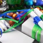 装飾とクリスマスのギフト ボックス — ストック写真