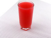 Sour cherry juice in a glass — Stock Photo