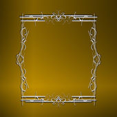 Illustration the luxury gold pattern ornament borders of black background — Stock Photo