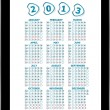 Calendar for 2013 in tablet PC isolated on white background — Stock Photo