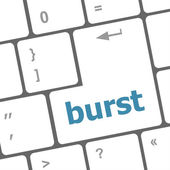 Computer keyboard with burst key. business concept — Stock Photo