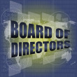 Board of directors words on digital screen background with world map — Stock Photo #38670097