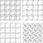 colección de fondos conjunto, geometricos inconsútil — Foto de Stock