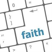Faith button on computer pc keyboard key — Stock Photo