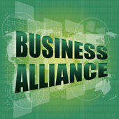 Business concept, business alliance digital touch screen interface — Foto Stock