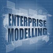 Modelado de la empresa, interfaz Hola tecnología, pantalla táctil — Foto de Stock