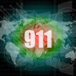 911 words on digital touch screen interface — Stock Photo