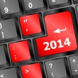 New year concept: 2014 key on the computer keyboard — Stock Photo #39117453