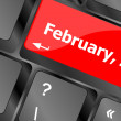 Stock Photo: Computer keyboard key - 14 february